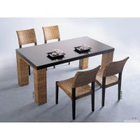 天津食堂 玻璃钢餐桌椅丶四连体不锈钢餐桌