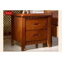 厂家直销实木床头柜现代简约储物柜整装床边收纳柜鑫平阁实木家具 橡木床头柜角柜