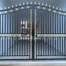 欧式别墅铁艺大门 新中式铸铁大门 工厂直销 价格美丽 质量杠杠滴 河南新力