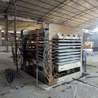 8成新福建联翔产四八尺250吨8压7层带侧压式热压机出售