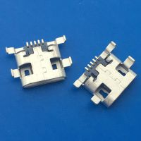 B型MICRO沉板母座5P沉板0.9MM四脚插板DIP+SMT直边 雾锡 -CY