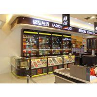 超市烟酒柜 精品超红酒白酒烟酒展柜超市展示架实木质货架陈列柜