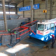 全自动液压打捞水草机械 收割水葫芦清理设备