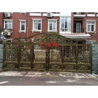 厂家直供武陵红铝艺庭院门,电动院子门,别墅入户铜门,庭院护栏,院子围栏,护栏