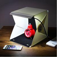 洋葱集市/迷你折叠摄影棚 简易拍照LED柔光箱拍摄台 小型摄影箱