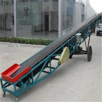 10米滚筒粮食输送机 供应槽型爬坡皮带输送机