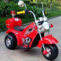 哈雷警车外贸出口儿童电动车摩托车可坐人带灯光音乐可充电带警灯