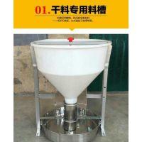 育肥干湿喂料器北方地区使用的不锈钢食槽干湿料槽