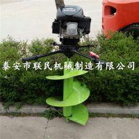 手提式汽油打洞机 联民螺旋挖坑机使用方法