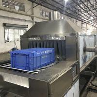 先泰专业制造物流周转箱自动化喷淋清洗机 通过式除油污清洗机厂家