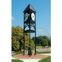 供应定制康巴丝户外精美雕塑景观塔钟 户外景观大钟