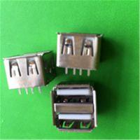 USB2.0母座2.0AF双层插座连接器 USB10.5长180度直插现货供应