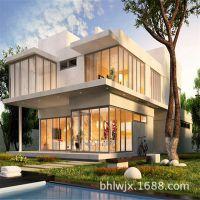 精致度假轻钢别墅 优质轻钢集成房屋 模块化设计 集成别墅定制