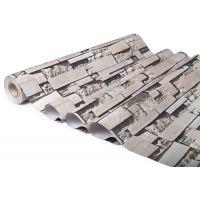 广州缘艺复古仿砖纹3D立体墙纸pvc自粘免胶墙膜彩装膜