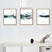 鸿业相框厂家定制批发中国风系列3.5cm厚度50*70cm客厅现代装饰画