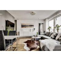 居乐高装饰昆明57平米的北欧灰色空间 绿植成就了它的美