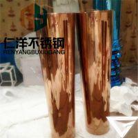 厂家直销201/304不锈钢彩色管 拉丝红古铜管 发黑古铜管 黑钛金管