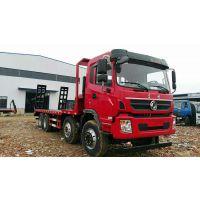 供应现货一台东风前四后八20吨7.52L排量平板运输车 玉柴290马力