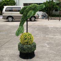 东莞紫萱工艺品 厂家直销仿真景观绿雕 五色草动物绿雕 人物绿雕 装饰园林景观区