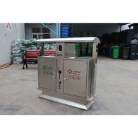 定制海硕不锈钢分类桶 环保垃圾箱 道路果皮箱