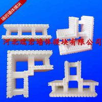 河北瑞岩EPS模块,是阻燃型聚苯乙烯泡沫塑料模块作模版保温隔热层,中芯浇筑混凝土面层抹灰形成复合材料