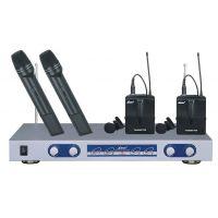 莱茵一拖四无线麦克风LWM-1500A,无线手持+领夹话筒,舞台用话筒