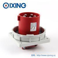 QIXING启星QX3658 5芯 63A IP67高端型工业暗装插头 3C认证