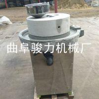 家用亲民豆制品加工石磨机 花生酱米浆加工机械 骏力牌 电动石磨豆浆机