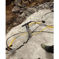 昆明道路修建遇到硬石头用劈裂棒