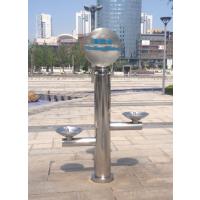 公园步行街免杯饮水设备 户外不锈钢公共直饮水台 高低盆直饮水机