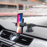 汽车车载无线充 手机支架 无线充电器 QI快充 iPhone X 三星通用
