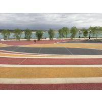 宁夏恒森透水地坪材料、园林景观艺术地坪、彩色透水沥青路面铺设