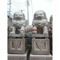 石雕厂家雕刻花岗岩石狮子 成对镇宅石雕工艺品 石狮子价格