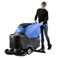 【无锡工业洗地机品牌】 工厂用双刷盘自驱行走洗地机 容恩R70BT手推洗地机