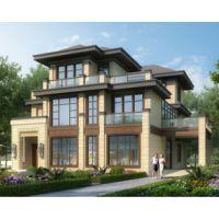 抚州房屋设计AT1778三层新亚洲带内庭院高端大气别墅设计全套图纸13mX19.5m