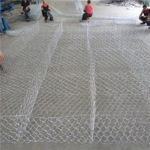 河道堤防铅丝笼 小丝六角网厂家 小拧花六角网的图片