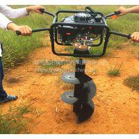 西安汽油挖坑机、汽油机地钻、打坑种植机