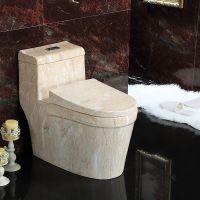 家装连体复古彩色陶瓷一体地排卫生间座便器马桶