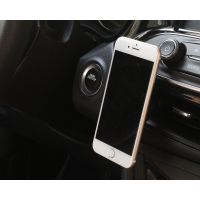 ABS材质汽车车载手机支架磁吸硅胶磁铁支架汽车内饰礼品定制