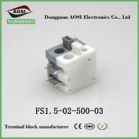 安防监控设备专用端子5.0MM 灰白插头弹簧式PCB接线端子FS500R