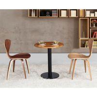 平凉市北欧西餐厅咖啡厅水曲柳实木桌椅小户型厂家直销