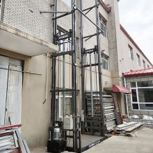 专业定制导轨式液压升降货梯 LZSJD2T液压升降货物输送平台