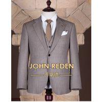 成都乔瑞德西服定制 双排两粒扣羊毛平驳领修身西服套装 结婚西服定制