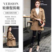 广东虎门工厂促销低价便宜棉衣外套时尚呢子大衣中长款大衣便宜批发