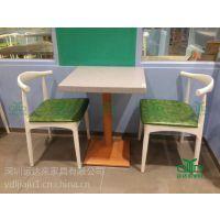 深圳运达来订制 中式西餐厅桌椅 大理石不锈钢中餐厅餐桌|简约茶餐厅桌子