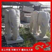 泉州白石雕大象现货 吉祥六牙石象 白麻大象加工