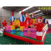 郑州全森出售大型充气城堡,最新款猪猪侠充气城堡滑梯等其他玩具