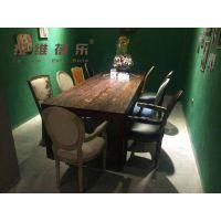 西安轻食餐厅实木方桌,实木圆桌厂家批发