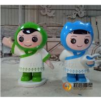 卡通雕塑厂家 供应学校 幼儿园玻璃钢书童摆件