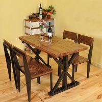 欧式复古铁艺餐桌椅工艺风餐桌休闲酒吧咖啡靠背椅